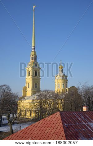 Peter and Paul Cathedral. Peter and Paul fortress. Saint Petersburg, Russia
