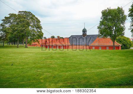 The Back Side Of The Church In Kastellet, Copenhagen.