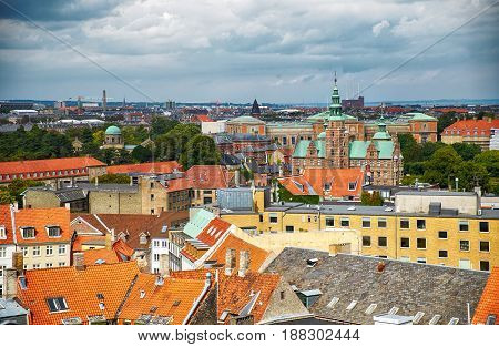The View From The Round Tower In Copenhagen.