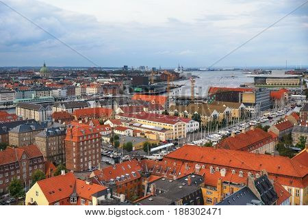 The Bird's Eye View From The Church Of Our Saviour On Copenhagen.