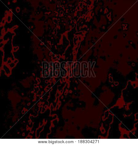 Dark Red Grunge Scratched Dirty Dusty Old Weather-beaten Background With Bloody Spots. Halloween Sca