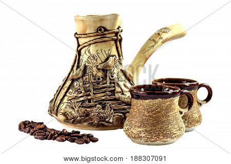Ceramic Coffee Set, Cezve