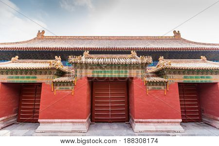 Gates of the Forbidden City in Beijing China