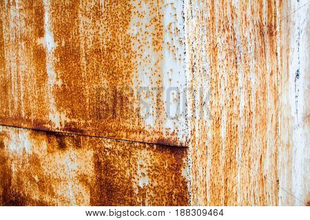 Rusty metal surface with rich and various texture.