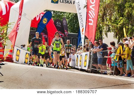 BRNO CZECH REPUBLIC -27 MAY 2017: Charitable run