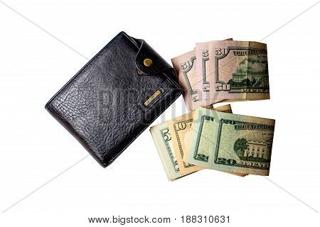 Black Men's Purse With Money