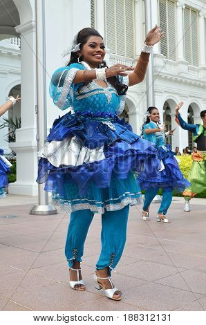 Indian Dancer Performs At The Istana, Singapore