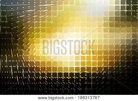 Black Yellow White Spiral Rounded Mosaic Background