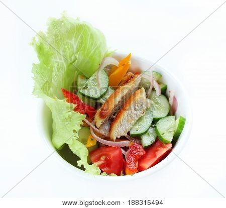 Salad vegetables mixed for healthy and diet.