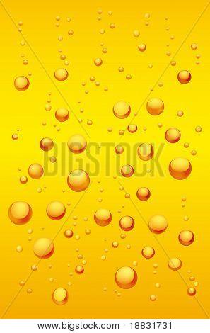 Macro scene of Beer Bubbles