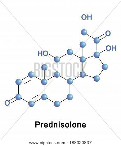 Prednisolone steroid medication to treat allergies, inflammatory conditions, autoimmune disorders, cancer, including adrenocortical insufficiency, rheumatoid arthritis, dermatitis, asthma, etc