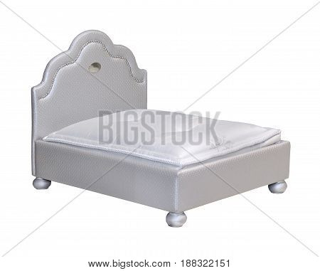 Small bed for pets while inside isolated with clipping path included
