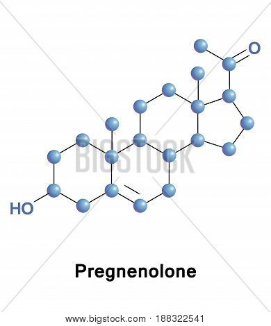 Pregnenolone endogenous steroid and precursor, metabolic intermediate in the biosynthesis of progestogens, androgens, estrogens, glucocorticoids, and mineralocorticoids.