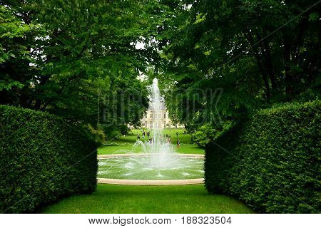 The garden of the palace of Elysées, the residence of french presidents, may 2014 31th