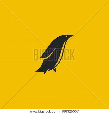 Penguin logo. Minimal styled logo. Vector illustration