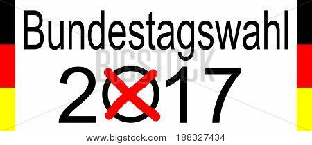 Elections in Germany 2017 on white background - Bundestagswahl