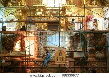 The Church Of Santo Domingo De Guzman On Oaxaca, Mexico