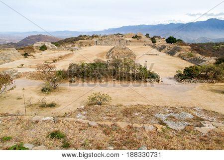 Mayan City Ruins In Monte Alban Near Oaxaca City