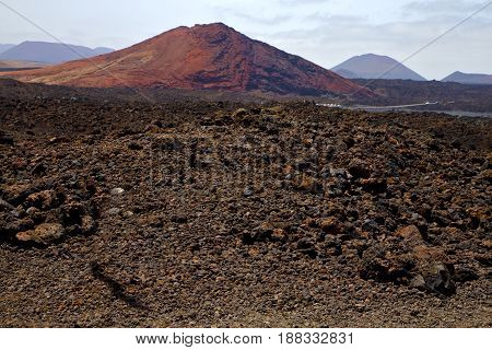 Volcanic Stone In Los Volcanes  Rock  Sky  Hill  Summer