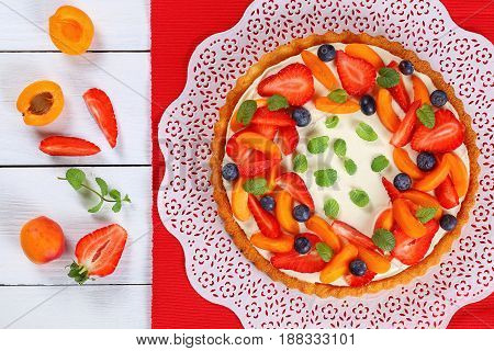 Fruit Pie Beautifully Topped With Berries