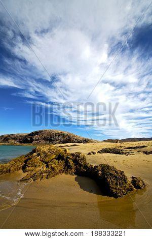 Water In Lanzarote  Stone Sky Cloud Beach   Musk    Summer