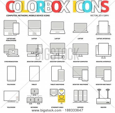 Color Box Icons, Computers Backgrounds And Graphics