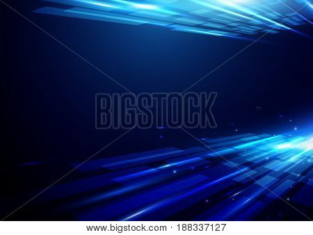 Abstract futuristic shiny hi-tech motion geometric shape technology concept background