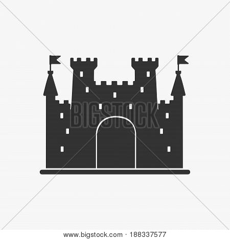 Icon Castle Vector Silhouette eps 8 file format