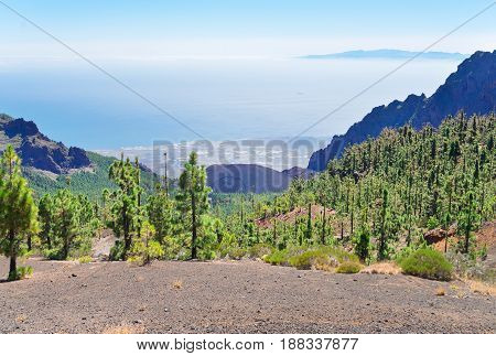 Rocks of Tenerife island and Santa Cruz de Tenerife, Spain