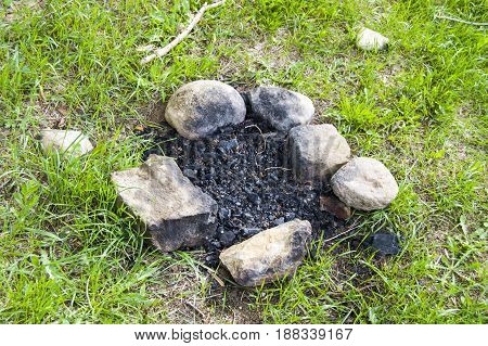 Barbecue pictures for cooking meat on picnic