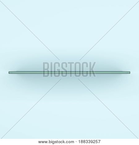Glass shelf, 3d rendering. Template for your design