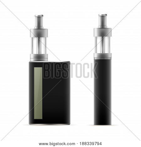 Realistic modern electronic cigarette. Vaporizer. Tobacco Alternative