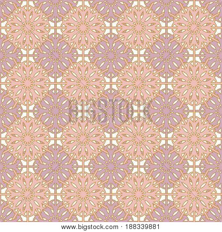 Beautiful seamless pattern with abstract pastel flower