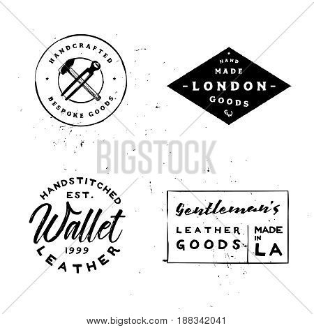 Retro styled vintage badges for branding projects, leather workshops, apparel labels, denim labels, t-shirt prints and more.