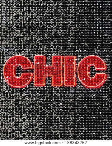 Chic Neon Sign Decor With Sparkling Details