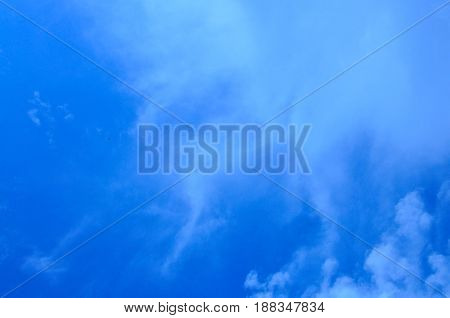 Texture Of The Clould And Blue Sky.