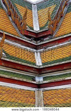 Asia  Thailand    Bangkok Sunny  Temple Abstract Roof