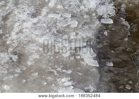 ice on the nature as background . A photo