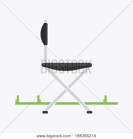 Chair for travel or for camping, vector illustration in style of a flat design