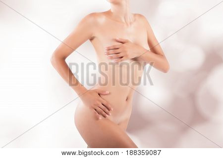Beauty and purity concept with a naked girl