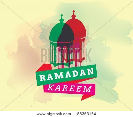 Ramadan kareem. Vector typography, text design. Background for greeting cards, print and web.