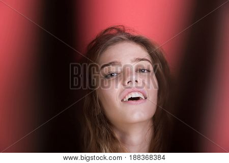 Woman Smiling With Pretty Face
