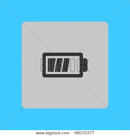 Battery charging icon vector. Flat design style.