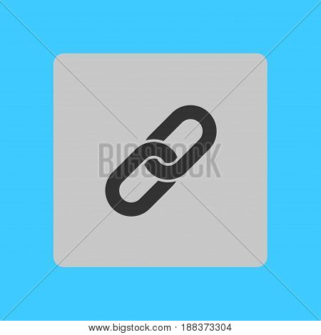 Link single icon.Chain link symbol. Icon link to the source.