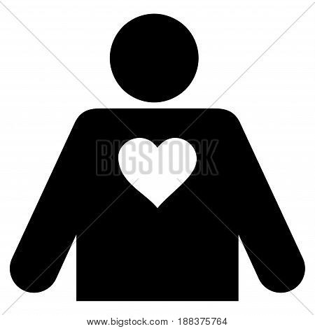 Lover Person flat icon. Vector black symbol. Pictogram is isolated on a white background. Trendy flat style illustration for web site design, logo, ads, apps, user interface.