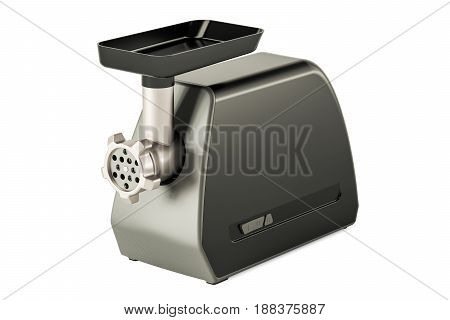 Modern electric meat grinder 3D rendering isolated on white background