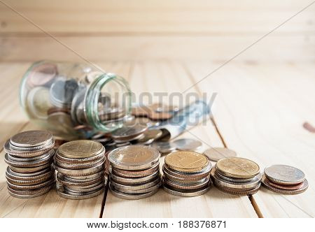 Saving Money And Account Banking Finance Concept