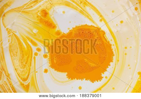 Mixed yellow and white paint. Mixed yellow and white paint