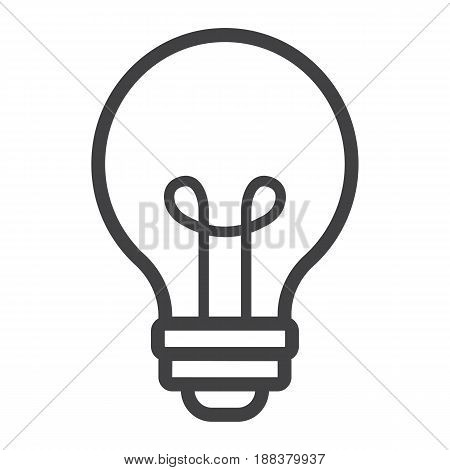 Light Bulb line icon, lamp and idea, light vector graphics, a linear pattern on a white background, eps 10.