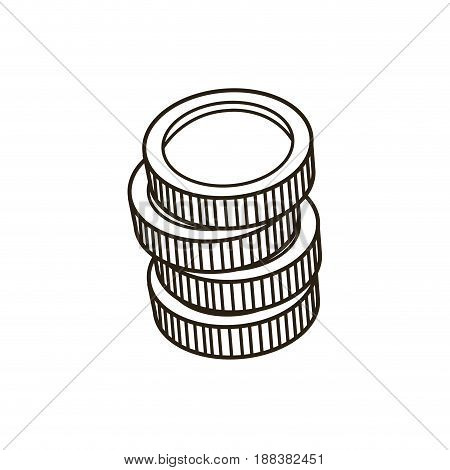coins stack money currency bank concept vector illustration
